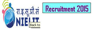 National Institute of Electronics and Information Technology ( NIELIT ) Recruitment