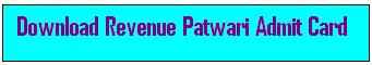 Punjab Revenue Patwari Admit Card 2015