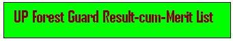 UPSSSC Vanarakshak Result