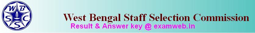 wbssc result answer key 2016