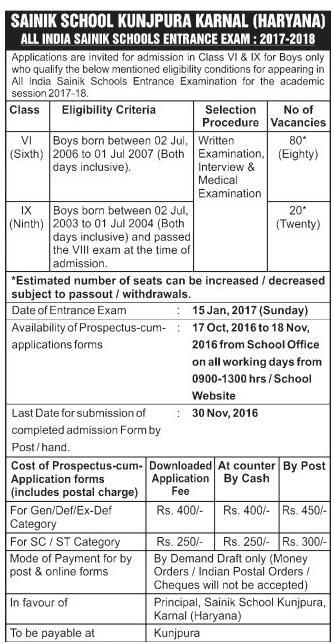 SS Kunjpura Admission Form