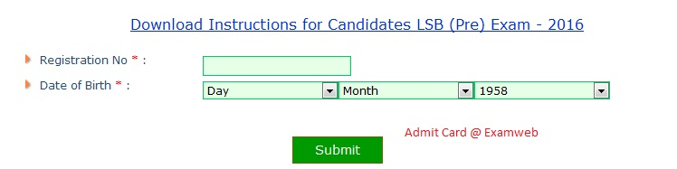 Download UKPSC Admit Card from examweb.in
