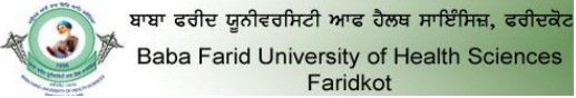 Download BFUHS Admit Card from Examweb.in