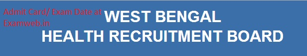 WB Staff Nurse Admit Card Exam Date